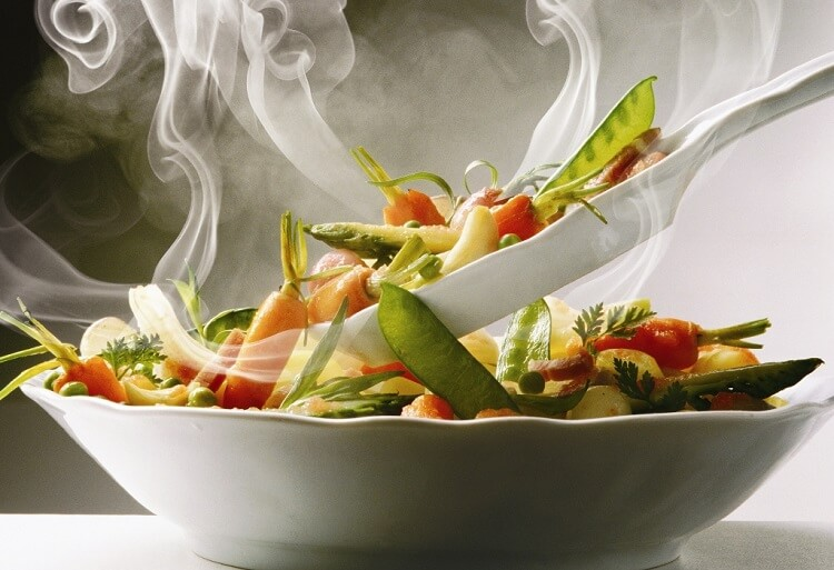 Plate with Vegetables --- Image by пїЅ Duffas/photocuisine/Corbis